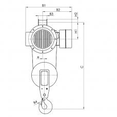 Таль электрическая тип Т02, г/п 0,5т