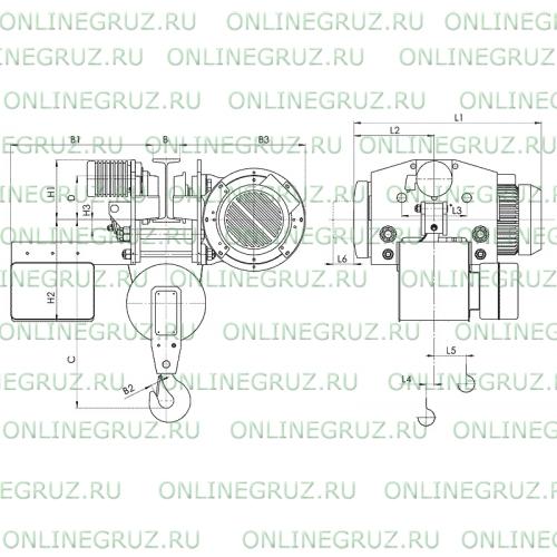 Таль электрическая тип Т45 г/п 1,0т